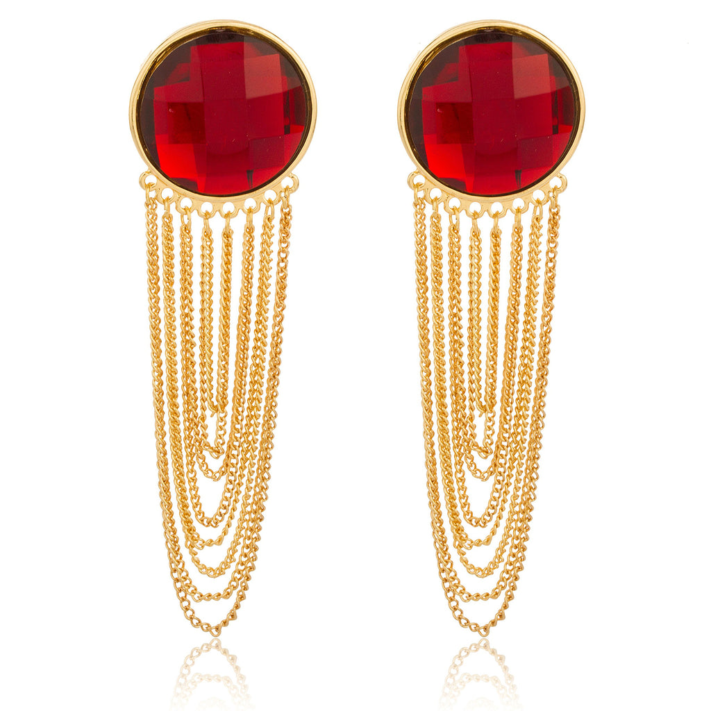 Goldtone With Red 'Crystal Clear' 4...