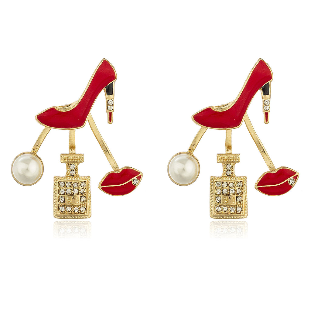 Goldtone With Red 'Ladies Night' Multi...