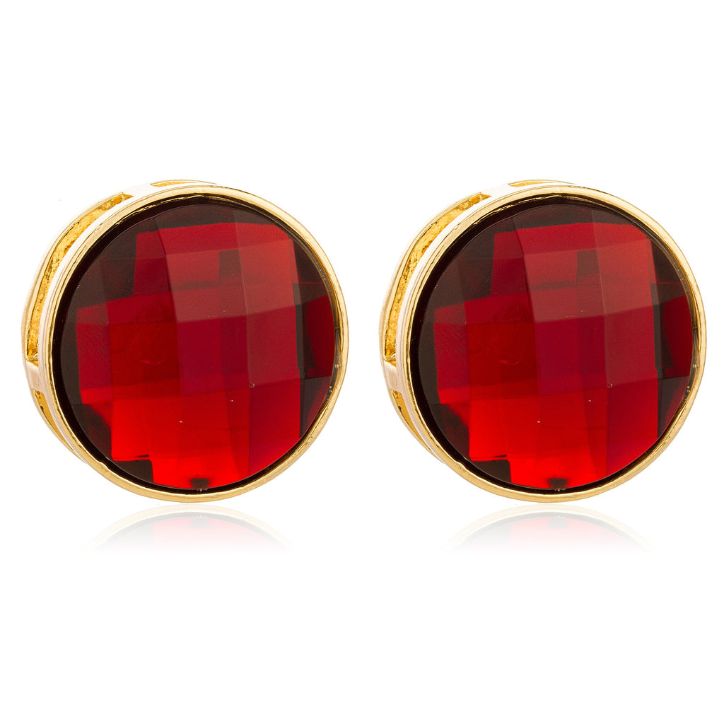 Goldtone With Red Large 'Crystal Clear'...
