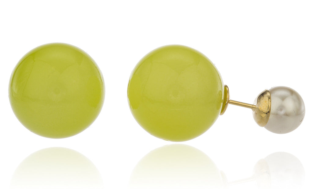 Granny Apple Green With Ivory Round...
