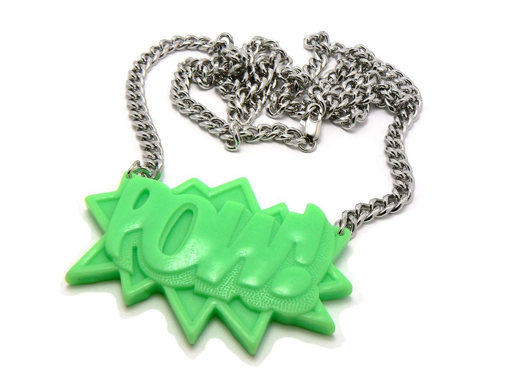 Green Homica POW! Pendant With A...