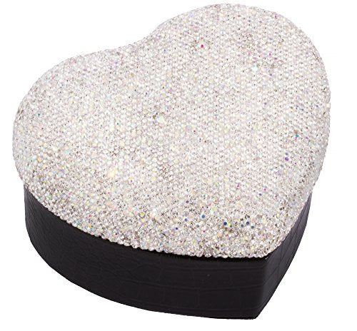 Heart Shape Faux Leather Jewelry Box...