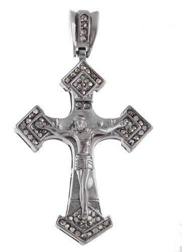 Hematite Iced Out Jesus On The...