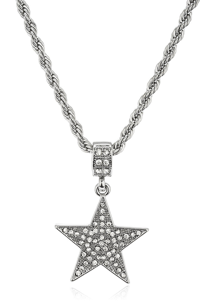 Iced Out Star Micro Pendant With...