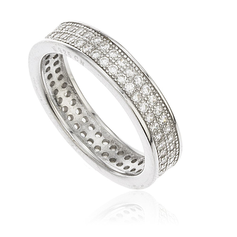Ladies 925 Sterling Silver Cubic Zirconia...
