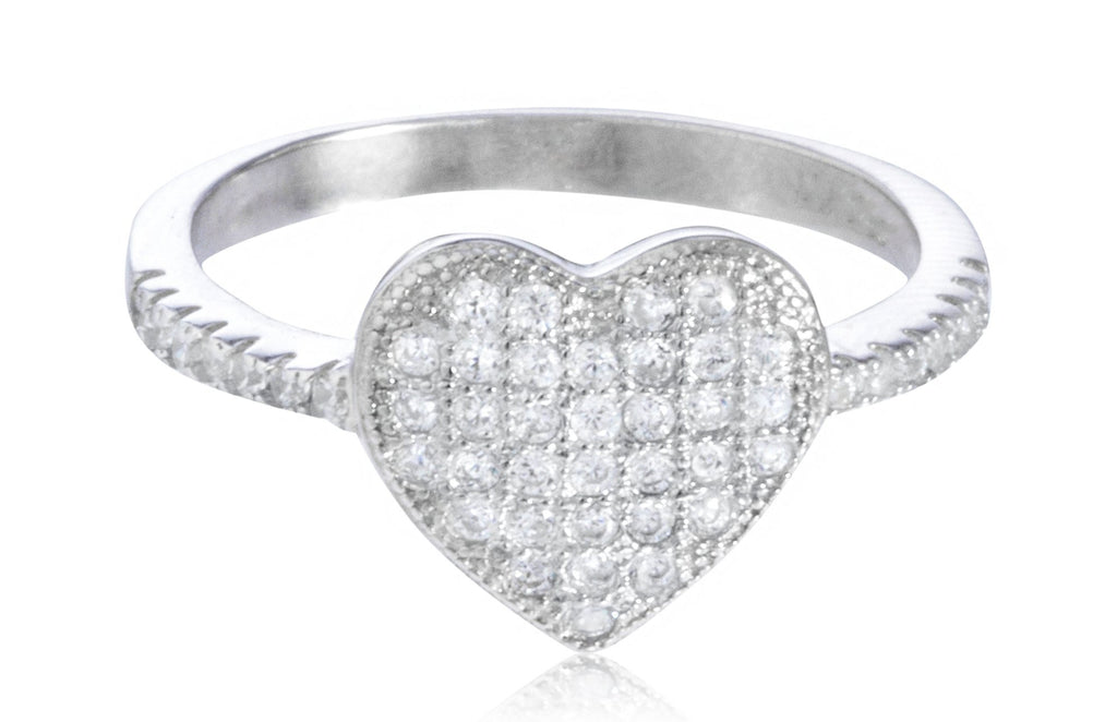 Ladies 925 Sterling Silver 'Stone Heart'...