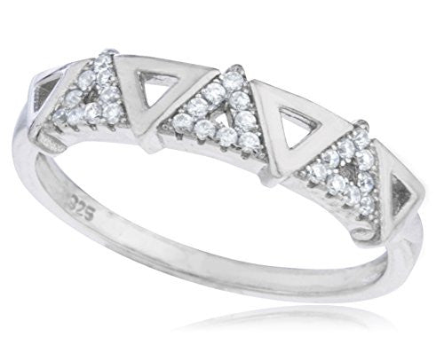 Ladies 925 Sterling Silver 'Stone Pyramid'...