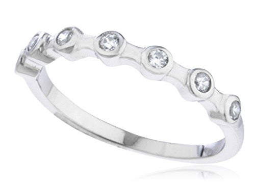 Ladies 925 Sterling Silver 'Stone Symmetry'...