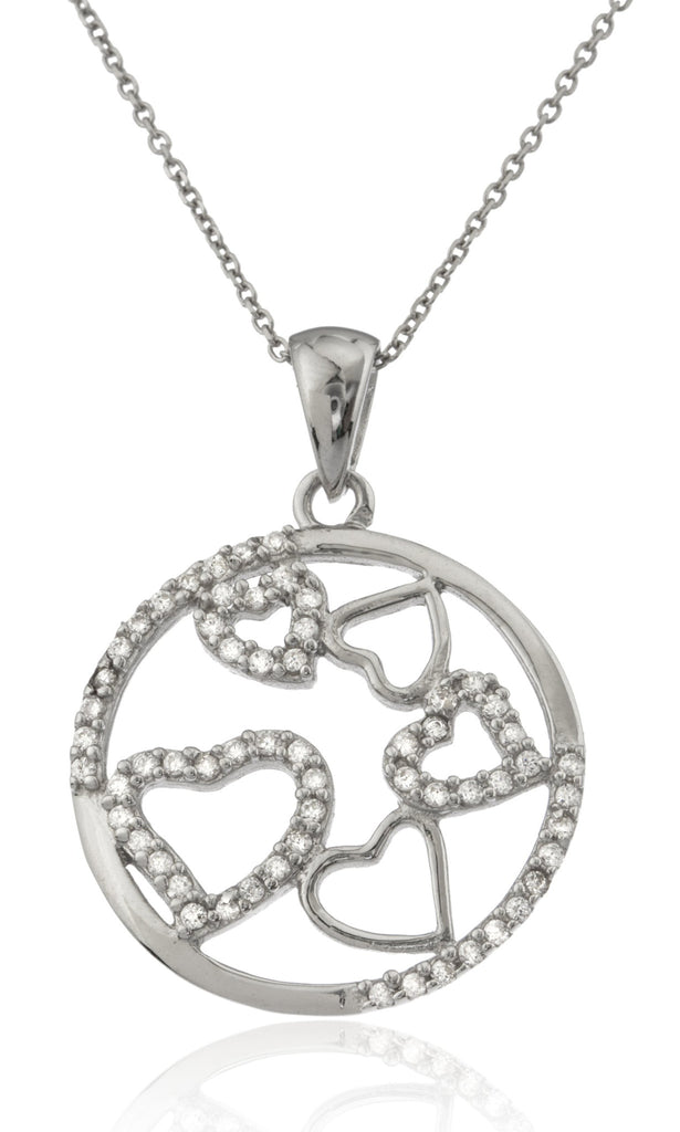 Ladies Real 925 Sterling Silver Circle...