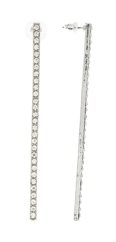 Linear Earrings With Clear Stones