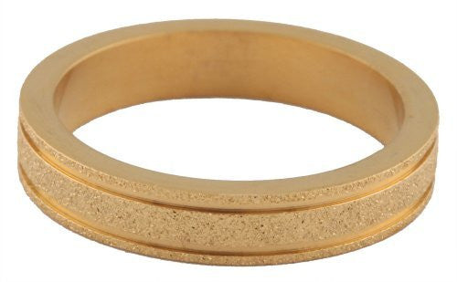 Men's Goldtone Stainless Steel Sandblast Band Ring Sizes 6-8