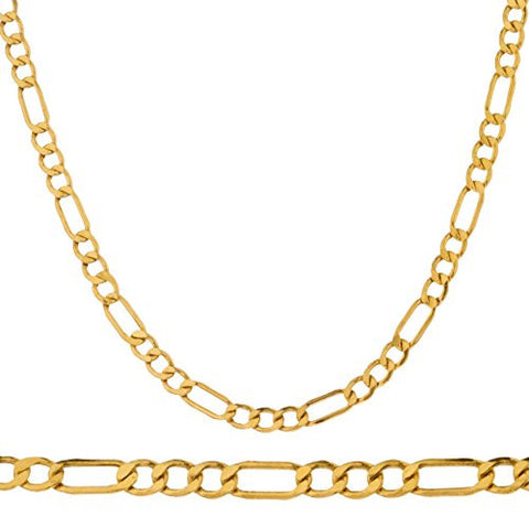 Real Gold Figaro Chain