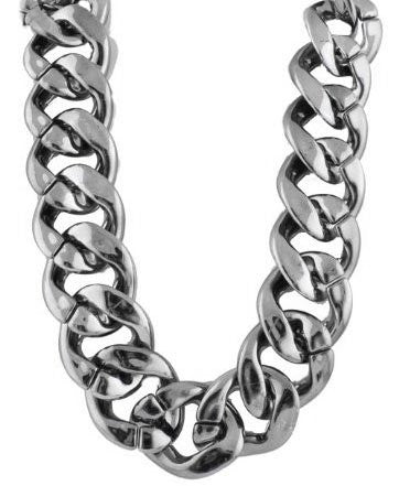 Metallic Gun Metal Lightweight 35mm 22 Inch Link Chain Necklace