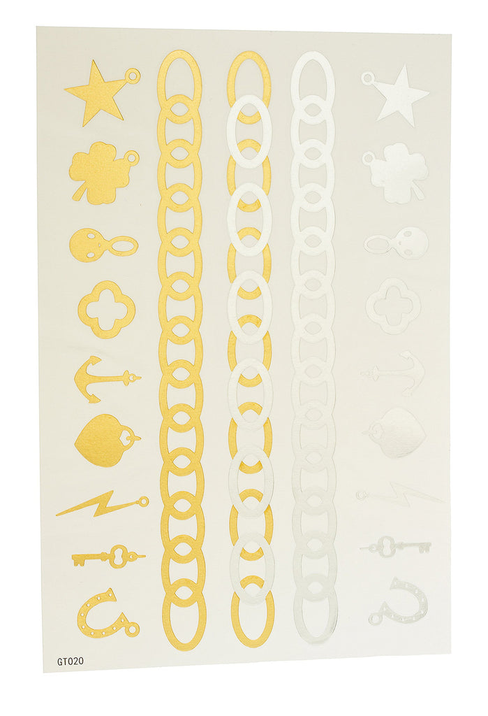 Metallic Temporary Tattoos Multi Charm Set...