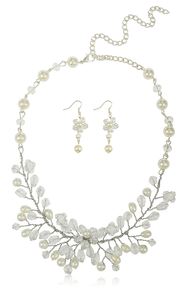 Off White Bridal Style Branches Design...