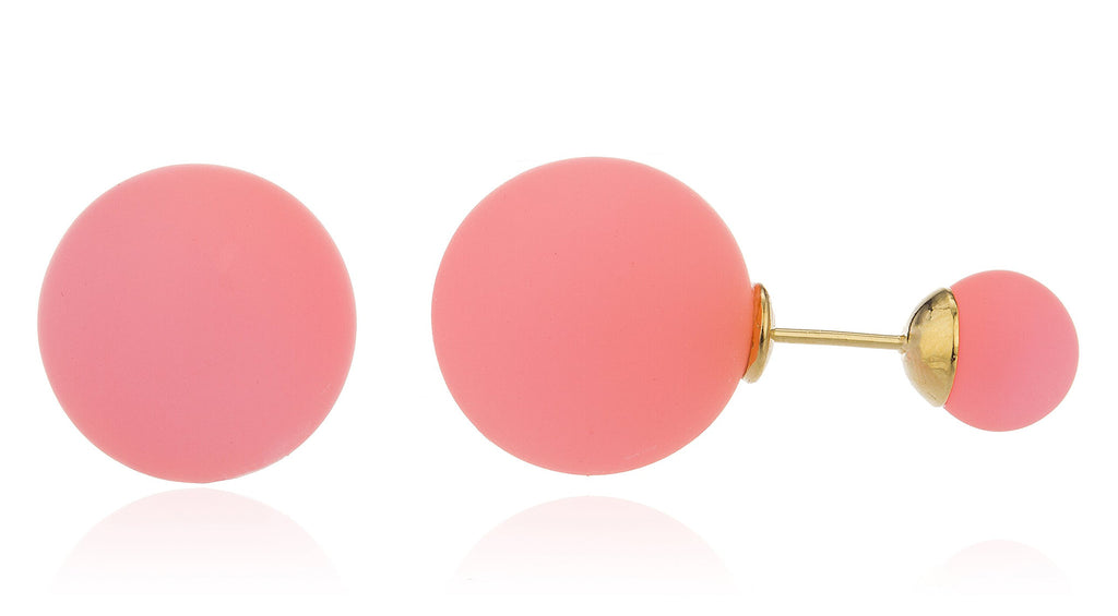 Pink Round Simulated Pearl Reflective Stud...