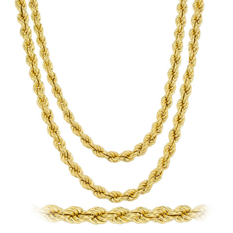 Rappers 6mm 24 Inch And 30 Inch Rope Chain Set