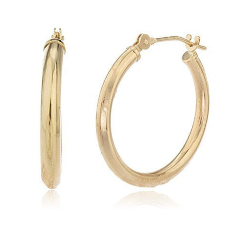 Real 10k Yellow Gold 2mm Basic Hoop Earrings - All Sizes Available