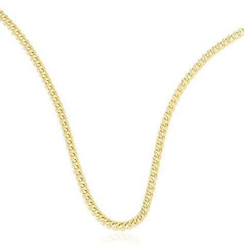 "Real 10k Yellow Gold 3.5mm Franco Chain Necklace - 24"" & 26"" Available"