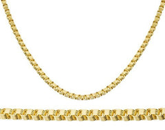 "Real 10k Yellow Gold 4mm Alexander Chain - 24"" & 30"" Available"