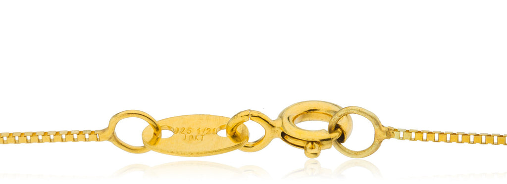 Real 10k Yellow Gold Bonded White...