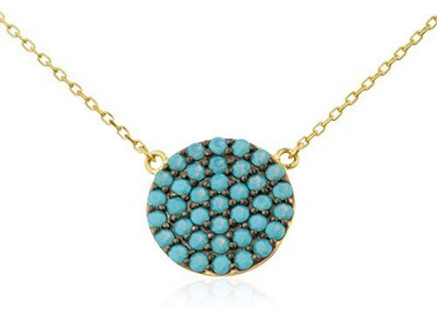 Real 14k Gold 12mm Round Pendant With 18 Inch D-Cut Link Necklace