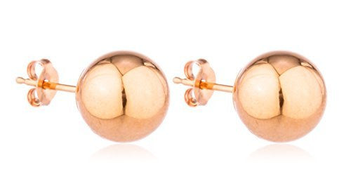 Real 14k Rose Gold Classic Ball...