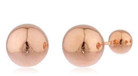 Real 14k Solid Gold 360 Ball Earrings - Available In Different Colors