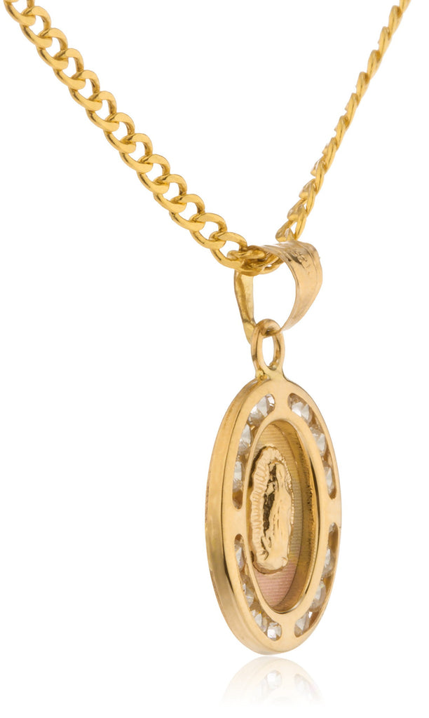 Real 14k Tritone Gold Mother Mary...