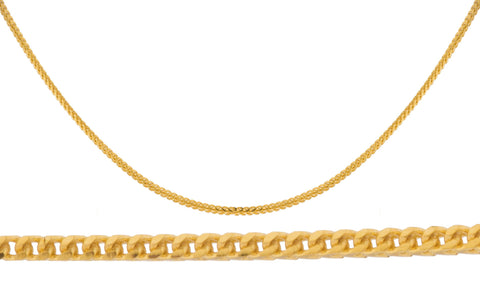 14k gold franco chain necklace