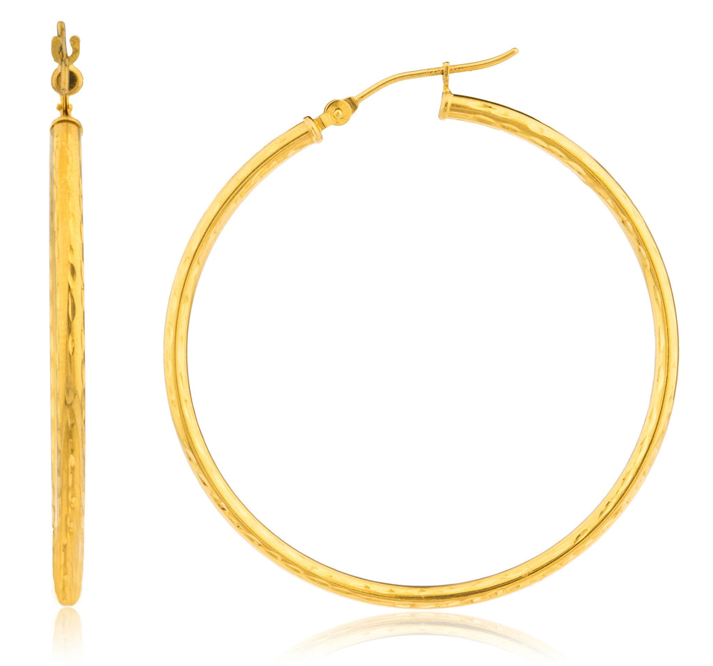 Real 14k Yellow Gold 2mm D-cut...