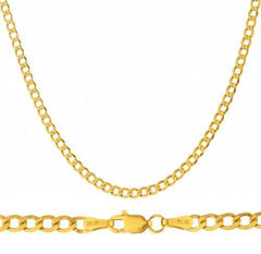 "Real 14k Yellow Gold 4.5mm Cuban Chain - 24"" & 30"" Available"