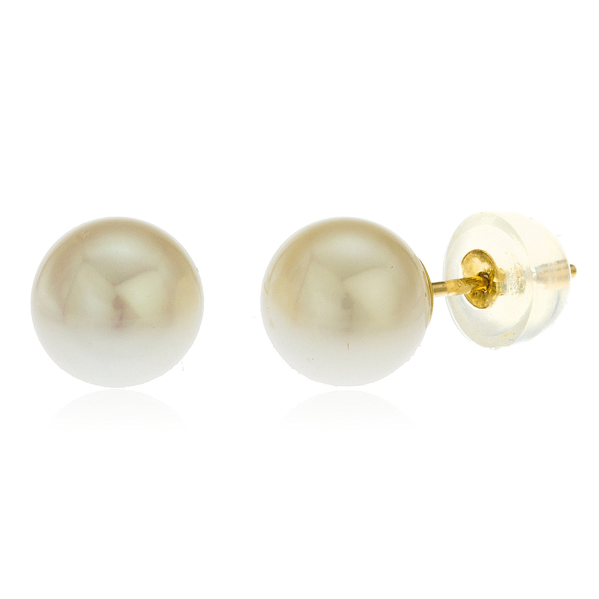 pearl cluster yellow studs earrings stud freshwater none image in gold