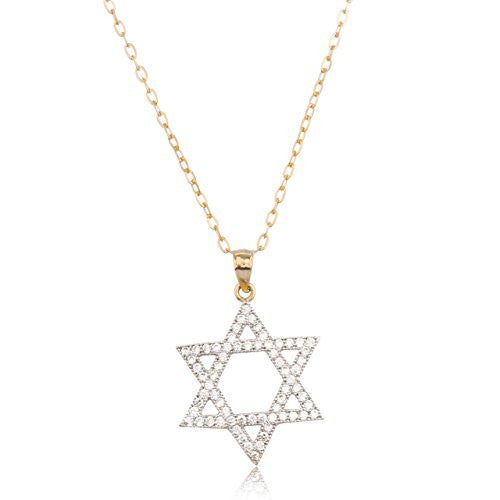 Real 14k Yellow Gold Jewish Star...