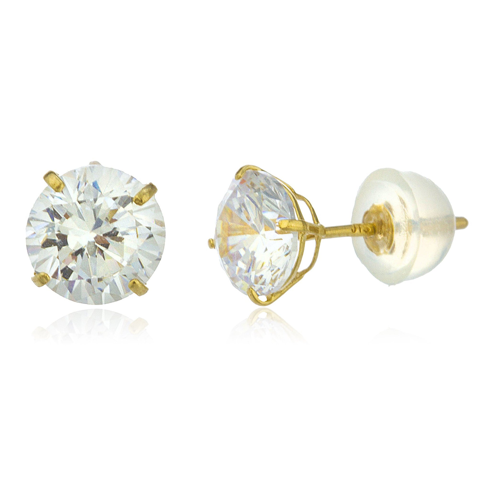 gold real amj diamond stud itm earrings diamonds backs butterfly