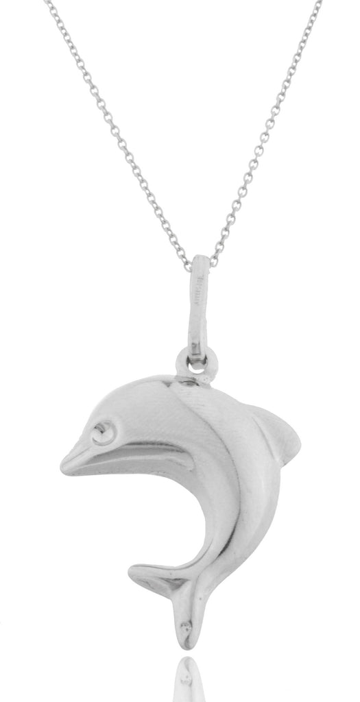 Real 925 Rhodium Plated Silver Dolphin...