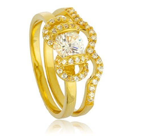 Real 925 Sterling Gold Plated With...