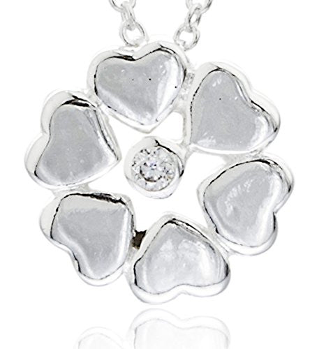 Real 925 Sterling Heart Shape Flower...