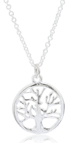 Real 925 Sterling Mini Tree Of Life Pendant With A 16 Inch Link Necklace