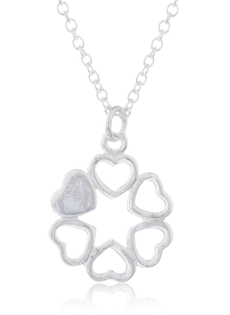 Real 925 Sterling Round Mini Hearts...