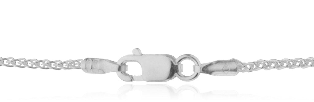 Real 925 Sterling Silver 1.3mm Spiga...