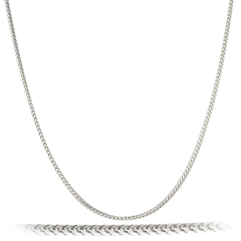 Real 925 Sterling Silver 1.5mm Franco Chain Necklace
