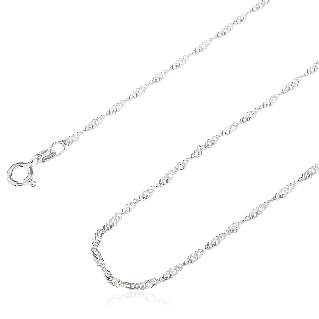 Real 925 Sterling Silver 1.5mm Singapore...