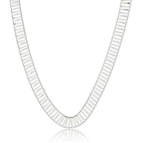 Real 925 Sterling Silver 10mm 18 Inch Id Bar Link Chain Necklace