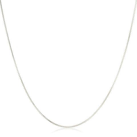 Real 925 Sterling Silver 1mm 18 Inch Greek Box Chain Necklace