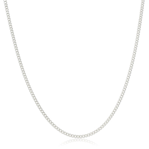 Real 925 Sterling Silver 2mm Miami Cuban 16 Inch Chain
