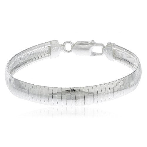 Real 925 Sterling Silver 8mm Omega...