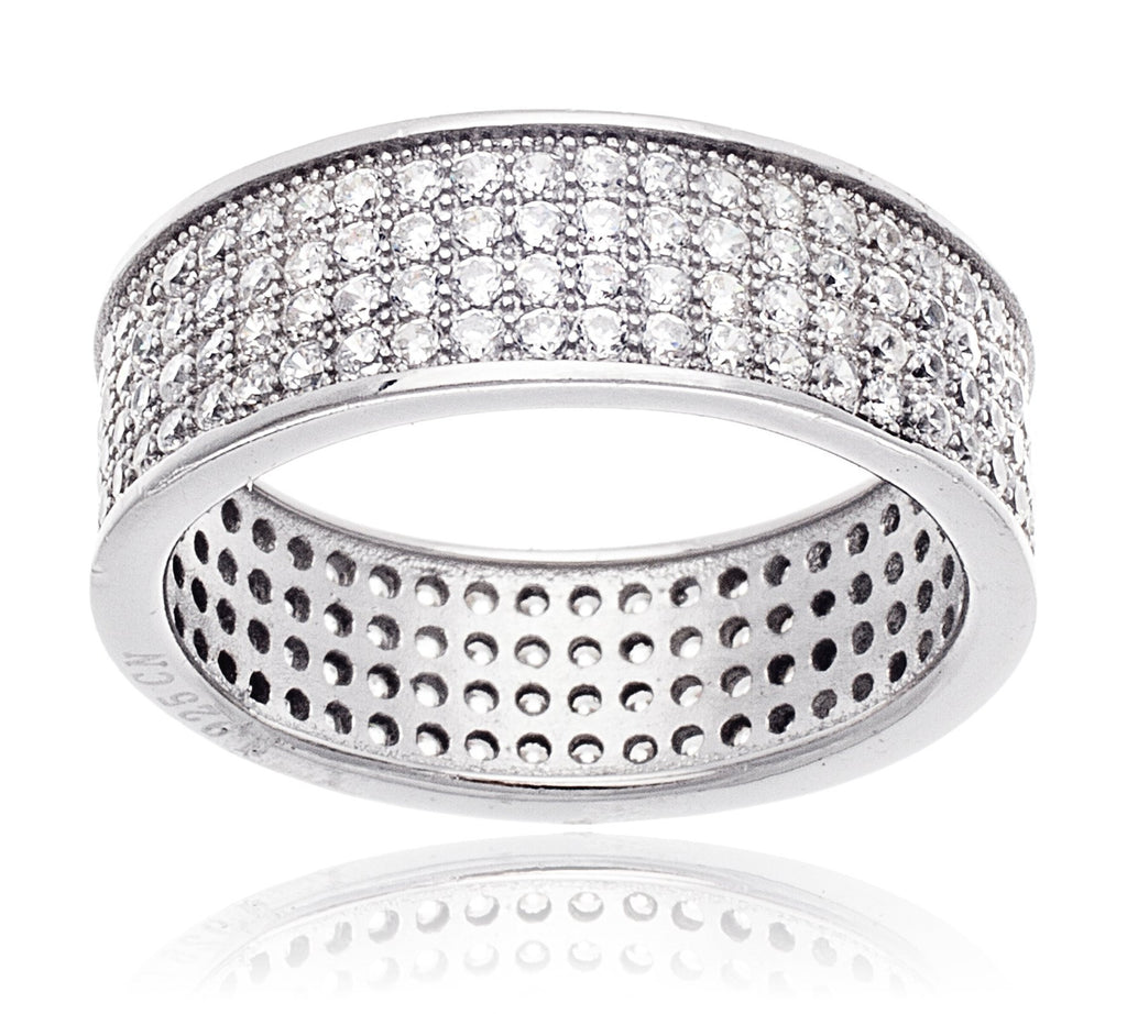 Real 925 Sterling Silver Band Ring...