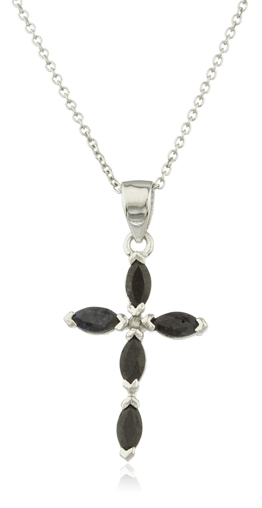 Real 925 Sterling Silver Black Simulated...