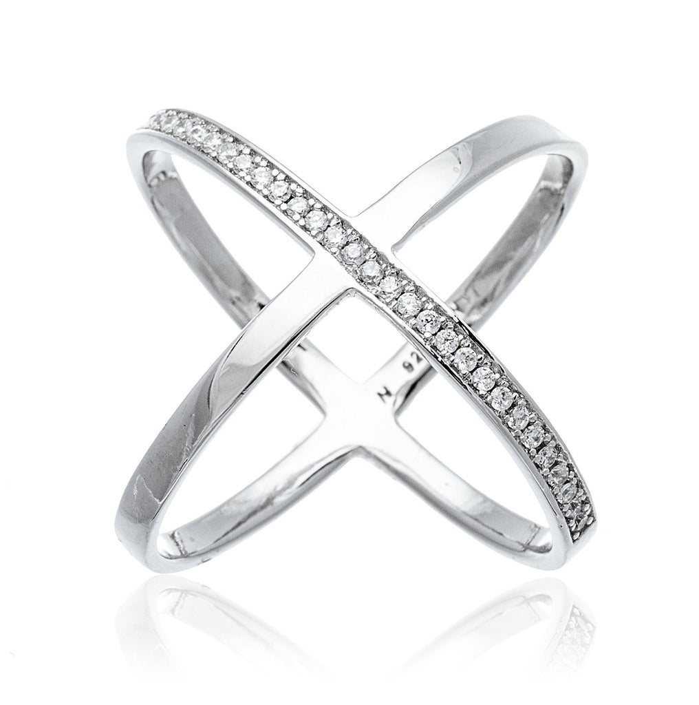 Real 925 Sterling Silver Bold Criss...